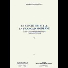 Cliché de style en français moderne (Le)