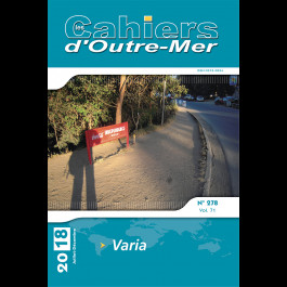 Varia – Les Cahiers d'Outre-Mer 278