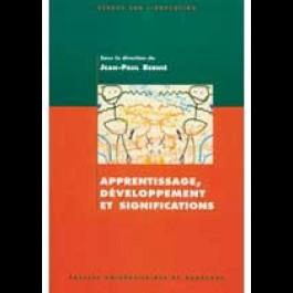 Apprentissage, développement et significations