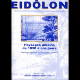 Eidôlon 68 : Paysages urbains de 1830 à nos jours