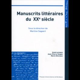 Manuscrits littéraires du XXe siècle