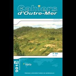 Varia - Les Cahiers d'Outre-Mer 264