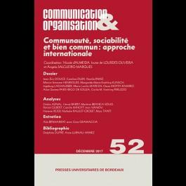 Communauté, sociabilité et bien commun : approche internationale - Communication & Organisation 52
