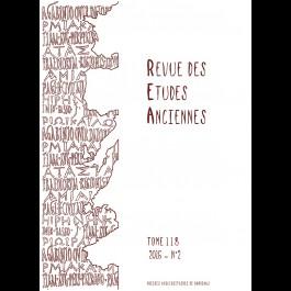 Revue des Études Anciennes - Tome 118 - 2016 - N°2