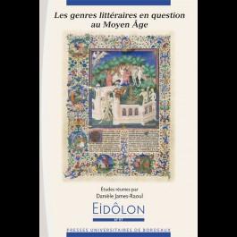 Eidôlon 97: Les genres littéraires en question au Moyen Âge