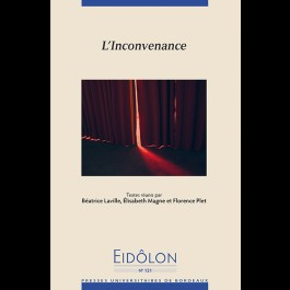Eidôlon 121 - L'inconvenance