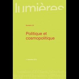 Politique et cosmopolitique - Lumières 25