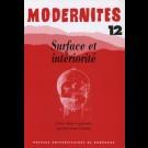 Surface et intériorité – Modernités 12