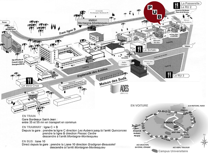 Carte Universite Bordeaux.Contact